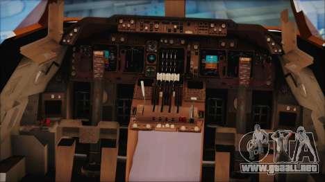 Boeing 747-237Bs Air India Himalaya para GTA San Andreas vista hacia atrás