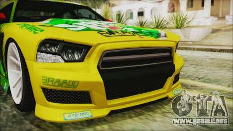 GTA 5 Bravado Buffalo Sprunk para visión interna GTA San Andreas