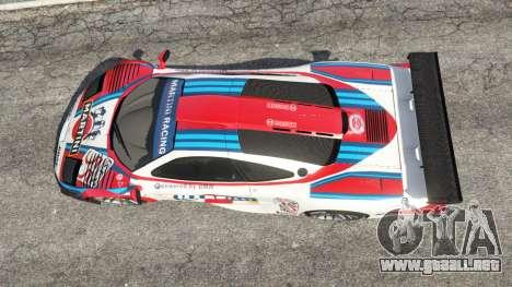 GTA 5 McLaren F1 GTR Longtail [Martini Racing] vista trasera
