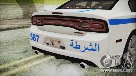 Dodge Charger SRT8 2012 Iraqi Police para visión interna GTA San Andreas