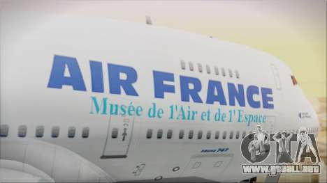 Boeing 747-128B Air France para GTA San Andreas vista hacia atrás