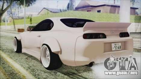 Toyota Supra JZA80 RocketBunny para GTA San Andreas left