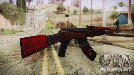 Xmas AK-47 para GTA San Andreas segunda pantalla