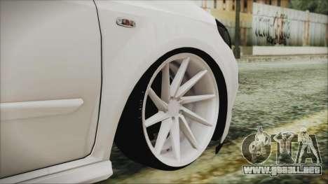 Fiat Punto para GTA San Andreas vista posterior izquierda