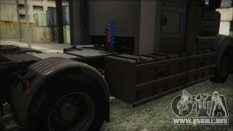Kenworth T908 v1.0 para GTA San Andreas vista hacia atrás