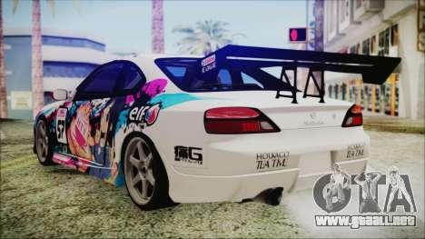 Nissan Silvia S15 Itasha Beta para GTA San Andreas left