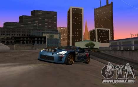 Nissan 350Z Rally para GTA San Andreas vista hacia atrás
