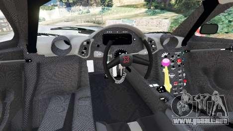 GTA 5 McLaren F1 GTR Longtail [Martini Racing] vista lateral trasera derecha