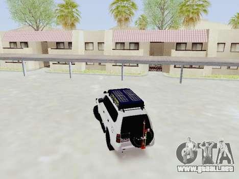 Toyota Land Cruiser Prado off-road LED para GTA San Andreas vista posterior izquierda