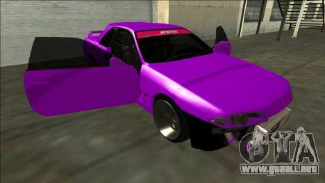 Nissan Skyline R32 Drift para vista inferior GTA San Andreas