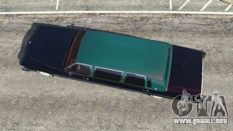 GTA 5 Cadillac Fleetwood 1985 Limousine [Beta] vista trasera