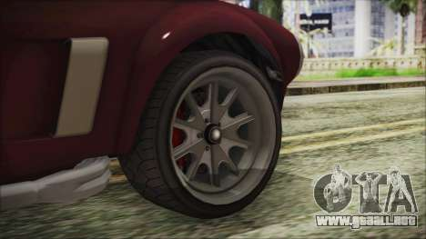 GTA 5 Declasse Mamba IVF para GTA San Andreas vista posterior izquierda