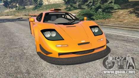 McLaren F1 GTR Longtail para GTA 5