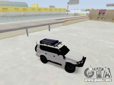 Toyota Land Cruiser Prado off-road LED para GTA San Andreas left