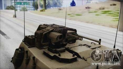 M4 Scorcher Self Propelled Artillery para la visión correcta GTA San Andreas