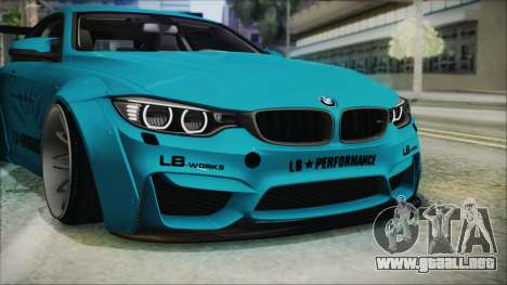 BMW M4 2014 Liberty Walk para vista inferior GTA San Andreas