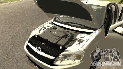Lada Kalina 2 - Granta para GTA San Andreas vista hacia atrás