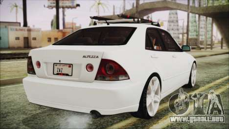 Toyota Altezza 2004 Full Tunable HQ para GTA San Andreas left