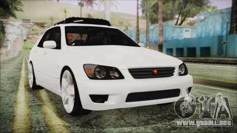 Toyota Altezza 2004 Full Tunable HQ para GTA San Andreas