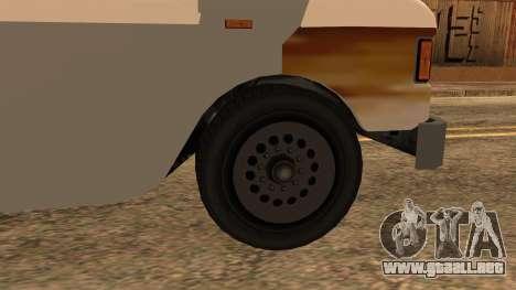 Sate Ayam (Chicken Satay) Van para GTA San Andreas vista posterior izquierda