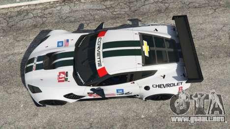 GTA 5 Chevrolet Corvette C7R vista trasera