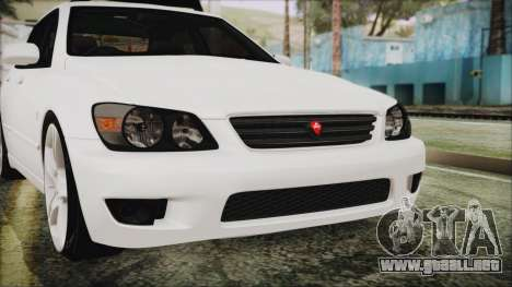 Toyota Altezza 2004 Full Tunable HQ para vista lateral GTA San Andreas