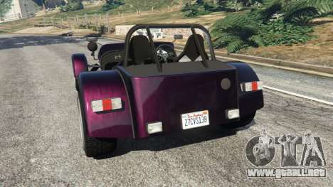 GTA 5 Caterham R500 2008 v0.5 vista lateral izquierda trasera