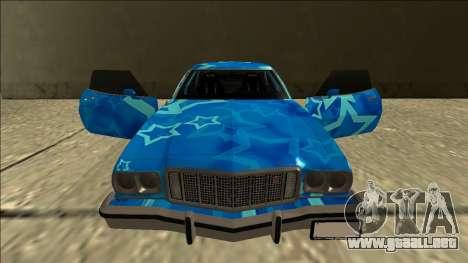 Ford Gran Torino Drift Blue Star para la vista superior GTA San Andreas