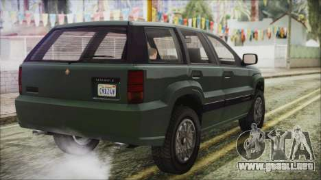 GTA 5 Canis Seminole para GTA San Andreas left