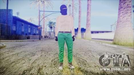 GTA Online Skin 56 para GTA San Andreas segunda pantalla