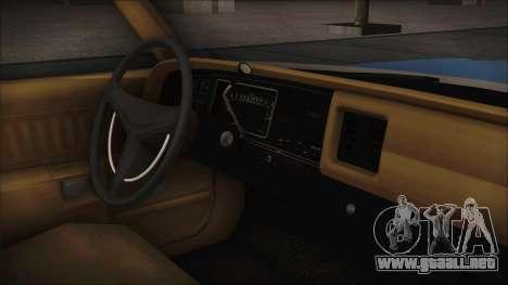 Dodge Monaco 1974 Civilian para GTA San Andreas vista posterior izquierda