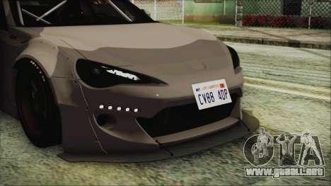 Toyota GT86 Rocket Bunny Tunable IVF para visión interna GTA San Andreas