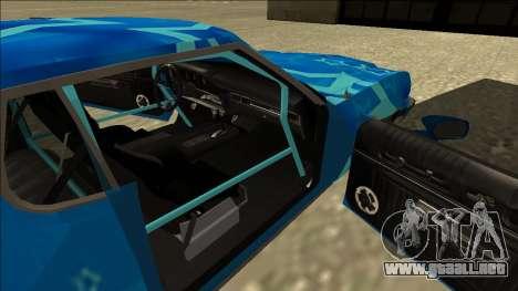 Ford Gran Torino Drift Blue Star para GTA San Andreas vista hacia atrás