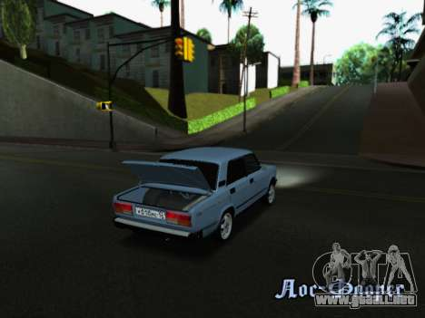 VAZ 2107-107 para vista inferior GTA San Andreas