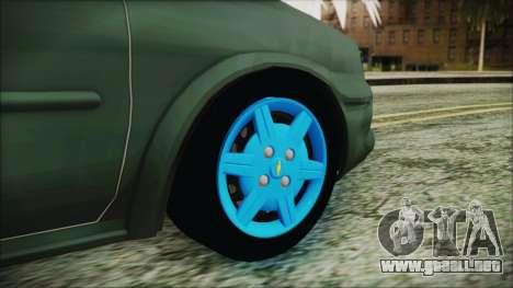Chevrolet Corsa para GTA San Andreas vista posterior izquierda