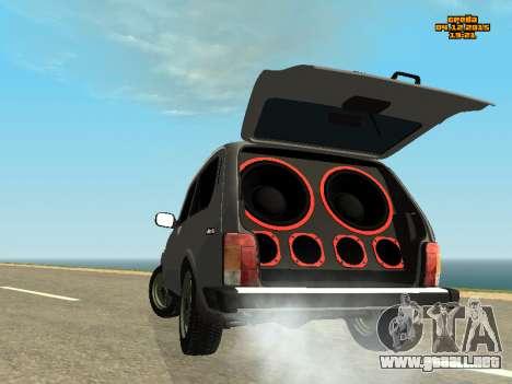 VAZ 2123 Niva automática de Sonido para GTA San Andreas left
