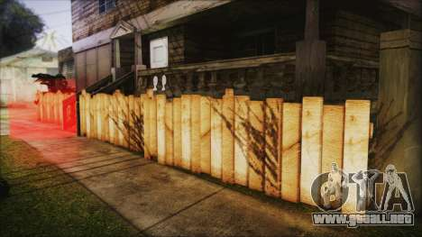 Wooden Fences HQ 1.2 para GTA San Andreas segunda pantalla