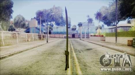 Grass Sword from Adventure Time para GTA San Andreas tercera pantalla