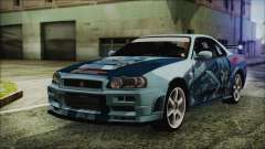 Nissan Skyline R34 Itasha para GTA San Andreas