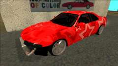Nissan Skyline R33 Drift Red Star para GTA San Andreas