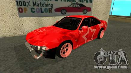 Nissan Silvia S14 Drift Red Star para GTA San Andreas