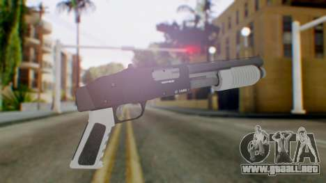 GTA 5 Sawed-Off Shotgun - Misterix 4 Weapons para GTA San Andreas segunda pantalla