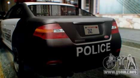 GTA 5 Police SF para visión interna GTA San Andreas