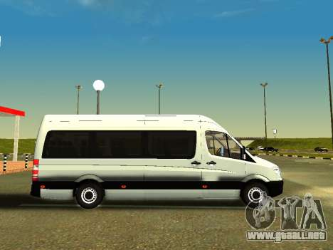 Mercedes-Benz Sprinter Long para GTA San Andreas vista posterior izquierda