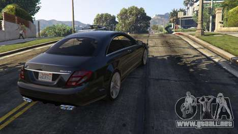 GTA 5 2010 CL65 Mercedes-Benz AMG vista trasera
