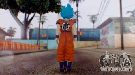 Goku SSJ God Blue (SSGSS) para GTA San Andreas tercera pantalla