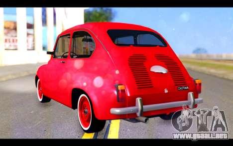 Zastava 750 - The Cars Movie para GTA San Andreas left