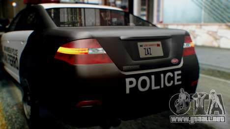 GTA 5 Police SF para vista lateral GTA San Andreas