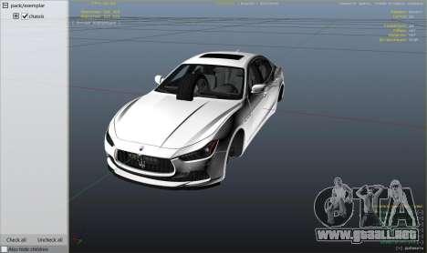 GTA 5 Maserati Ghibli S vista lateral derecha