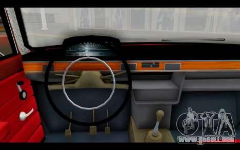 Fiat 124 para GTA San Andreas vista posterior izquierda